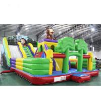 High Soundness Lovely Inflatable Castle Slide With Reliable Commercial Grade Zippers