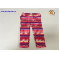 China No Side Seam Cute Baby Girl Leggings 95% Cotton 5% Spandex Jersey With Sea Waves Printed on sale
