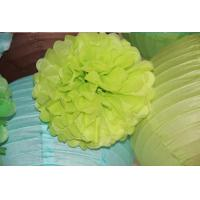 Buy cheap Factory Price Colorful indoor party Decoration Tissue Paper Pom poms from wholesalers
