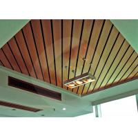 China Waterproof Suspended Ceiling Panel WPC ECO Wood Decorative 100mm * 25mm on sale