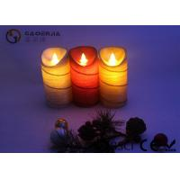 Colorful Moving Flame Led Candles Paraffin Wax Material 7.5cm Diameter