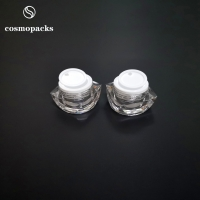 Quality 5g 10g Special Shape Clear Two Layers Acrylic Plastic Cream Jars for sale