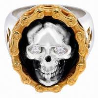 Quality Latest Design Skull and Biker Ring, OEM/ODM Orders are Welcome for sale