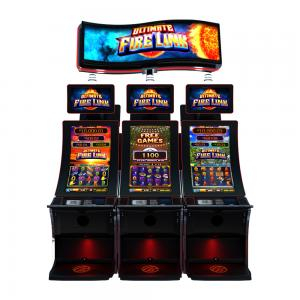 """Quality Fire Link 8 In 1 Slot Arcade Game Machine 43"""" Curve Touch Screen for sale"""