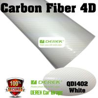 Quality 4D Glossy & Shiney Carbon Fiber Vinyl Wrapping Films--White for sale