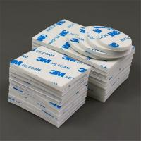 China 10MM Round Pressure Sensitive Adhesive Tape White , High Cohesion 1600T PE Foam Tape on sale