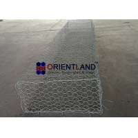 Quality Double Twisted Hexagonal Mesh 60×80mm Gabion Wire Baskets for sale