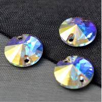 China sew on rhinestones for formal dress Round Rivoli sew on crystal ab stone on sale