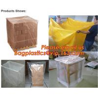 China Plastic reusable thermal pallet cover, Heavy Duty Waterproof Pallet Cover Tarp, LLDPE Elastic Pallet Packaging Bag Cover on sale