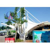 Quality Metal Structured Tensile Membrane Structure For Theme Park , Membrane Covered Shade Roofing for sale