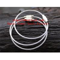 Quality Stainless Steel Rope Keychain Ring  Secure Key Ring for sale