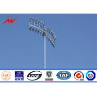 Best 35M Polygonal High Mast Light Pole Sports Center Lighting With Winch System HPS Light wholesale