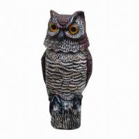 Best Rotating-head Garden Owl, Measuring 17x17x38cm, Protect Your Garden from Birds, Rodents and Pigeons wholesale