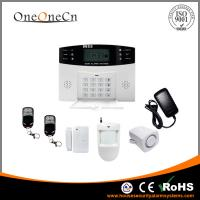 China 100 Wireless Zones GSM Diy Home Alarm Systems With Voice Prompt on sale