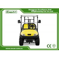 Quality Excar Golf Buggy Electric 2 Seater Yellow And Black ISO/CE Approved for sale