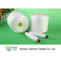 Quality High Tenacity 100 Polyester Spun Yarn , Dyed Polyester Yarn On Plastic Cylinder Cone for sale