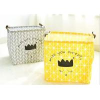 Quality Promotion Big Size Kraft Paper Storage Bags Hamper Basket Canvas With Printing for sale