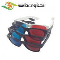 plastic red cyan glasses with custom logo for red cyan movie, game and picture