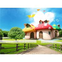 Quality Wear Resistant Bamboo Fiber Material Mushroom House In Park 300cm X 225cm for sale