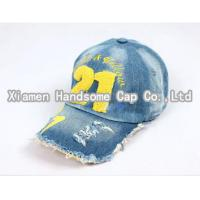 China Men and women sunshade delicate embroidery baseball cap spring summer denim cap BC-054 on sale