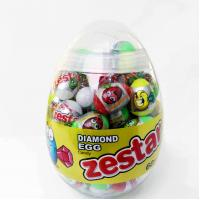 Quality 6g Diamond and Dinosaur Egg Shape Healthy Hard Candy ,Healthier Lollipop with good price for sale