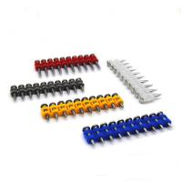 Buy 3.0*25mm High Speed Concrete Coated Nails With Flat / Checkered Head at wholesale prices