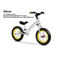 """Quality 12""""  High Quality Aluminum Kids Balance Bike No Pedal Running Bike With Red Axis Cartridge Hub Wheelsets Silver for sale"""