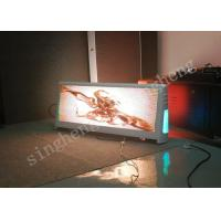 Quality Bright Taxi Top Advertising Signs , Taxi Top Led Screen 16.7M Colors Grey Scale for sale