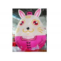 Best Custom Large Inflatable Moving Cartoon Characters Animal Rabbit For Kids wholesale