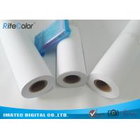 "Quality 42"" / 44"" Matte Coated Inkjet Paper Rolls Wide Format Printing Anti Fading for sale"