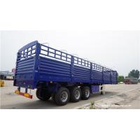 China tri axle semi trailer air bag suspension fence trailer for sale,fence cargo trailer on sale