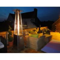 Quality Powder Coated SS Square Patio Heater For Garden 490mm*490mm*25mm Base Size for sale