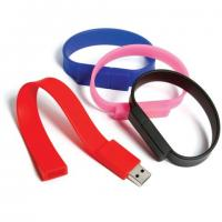 Quality full memory capacity silicon wristband usb drives with 512mb 1g 2g 4g 8g 16g for sale