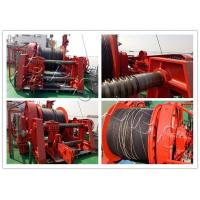 Quality Marine 20-Ton Hydraulic Winch / Horizantal & Hoist Winch with Large Rope Capacity for sale