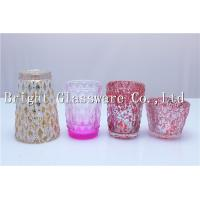 Quality a set of four pieces decorative glass candle holder for wedding centerpiece for sale