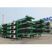 China CIMC 40 ft skeletal container trailer 20 ft container transport truck trailer for sale on sale