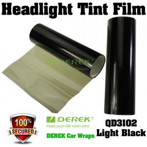 Quality Car Headlight Tint Film 3 layers 0.3*10m/roll - Light Black for sale
