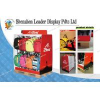 Best Red Printing Cardboard Pallet Display With Metal Hooks For Bag Promotion wholesale