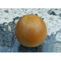Quality Smooth Cherry Solid Wood Balls , Dia 60 mm Natural Varnished Big Wooden Balls for sale