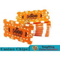 Quality Custom Design Cheap Casino Poker Chips , ABS Plastic Numbered Poker Chips  for sale