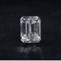 China Genuine 3 Ct VVS1 Emerald Cut DEF Super White Loose Moissanite Diamond 9x7 Mm on sale