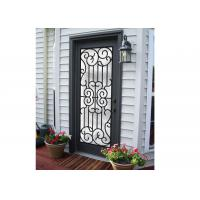 Quality Professional Wrought Iron And Glass Entry Doors For Building Sound Insulation for sale