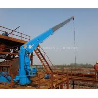 Quality Marine crane with hydraulic telescopic booms for sale