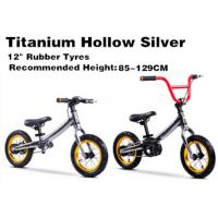 "Quality 12""  High Quality  High Carbon Steel 2in1 Kids Balance Bike No Pedal Children Bicycle for 2-12 Years Titanium Silver for sale"