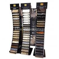 Quality Black Wood Metal Cambira Stone Showroom Display Stand Freestanding For Tiles for sale