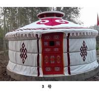 Quality Anti - Snow Yurt Style Camping Tent ,  Heat Preservation Mongolian Nomad Tent  for sale