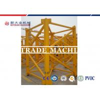 Quality ISO / CE Approved 8T Self Erecting Tower Crane QTZ Series Hydraulic Tower Crane For Construction for sale