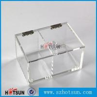 Best 2016 newest clear/plexiglass customised acrylic small boxes with lid wholesale
