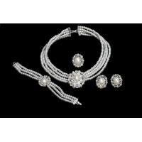 Best Elegant  Pearl Jewelry Necklace Sets A Unique Design Bridal Necklace Earring Sets NA4025 wholesale