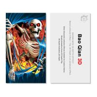 Quality 3D Lenticular Card PET / PP Printing With 3D Flip Changing Effect for sale